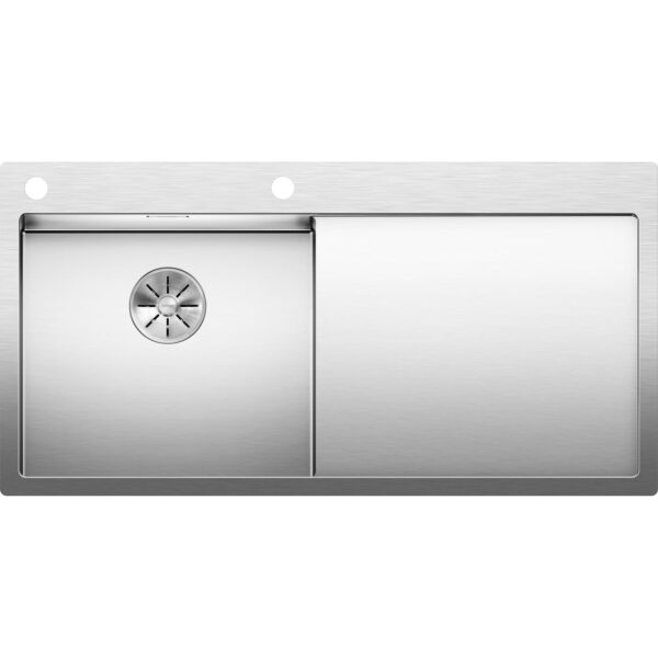 BLANCO CLARON 5 S IF with C overflow and InFino drain system stainless steel