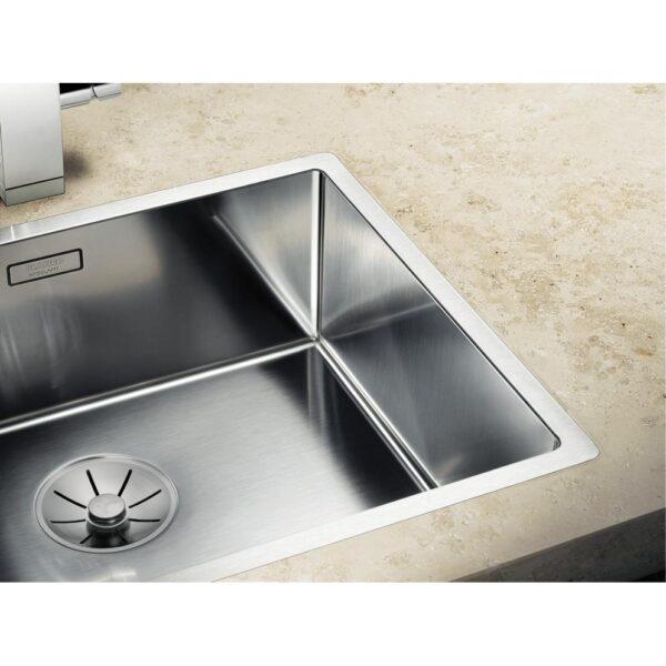BLANCO CLARON 500 IF stainless steel satin polish C overflow InFino drain system