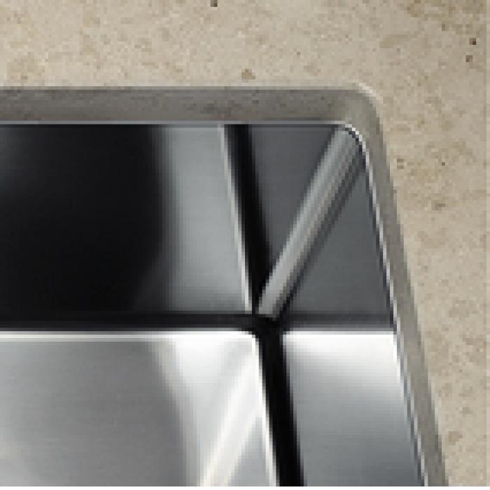 BLANCO CLARON 500 U stainless steel satin polish