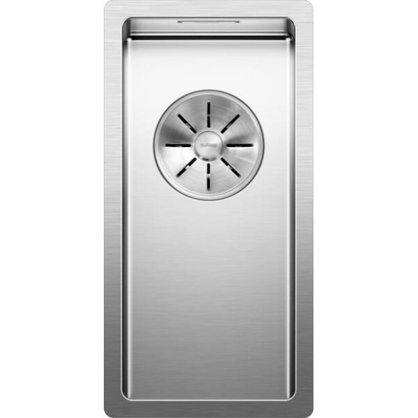 BLANCOCLARON 180 U or 180 IF with C Overflow and InFino drain system stainless steel satin polish