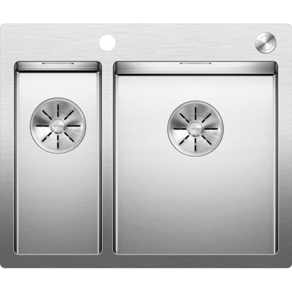 BLANCOCLARON 340180 IFA with C overflow and InFino drain system stainless steel satin polish