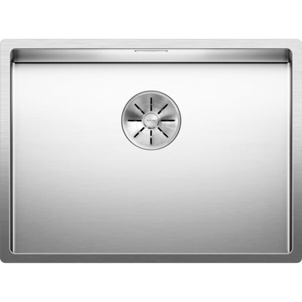 BLANCOCLARON 550 U or 550 IF with C Overflow and InFino drain system stainless steel satin polish