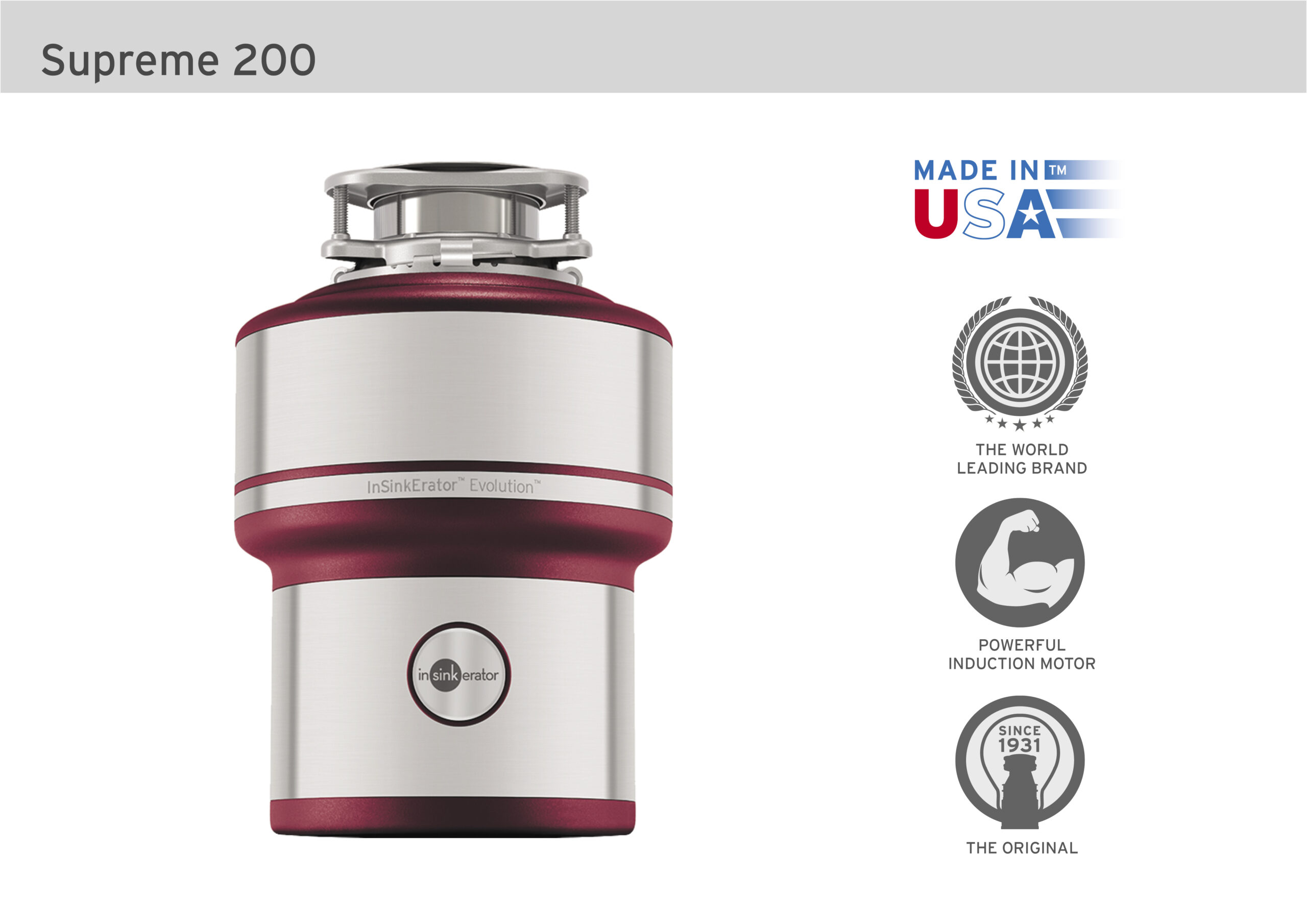 InSinkErator Supreme200 WithIcons scaled